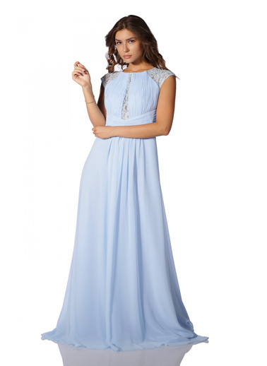 Pierre Cardin Uzun Abiye Elbise Mavi